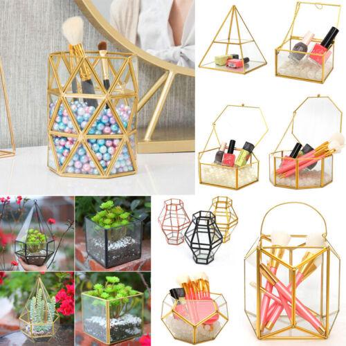 Glass Flower Planter Vase Pot Terrarium Home Garden Hanging Standing Container