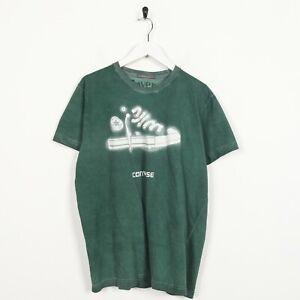 Vintage-Converse-Big-Logo-T-Shirt-Tee-vert-Large-L