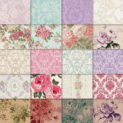 exclusive 40// 20pc elegant classic lace pattern scrapbook paper 4 design