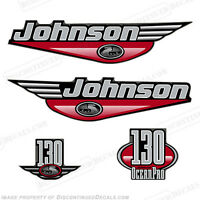 Johnson 1999-2000 Oceanpro 130hp Outboard Decal Kit - You Choose Color Decals