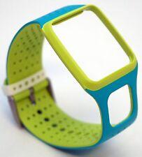 NEW TomTom Comfort Strap Slim NEON GREEN/BLUE Runner Multi-Sport GPS watch HRM+