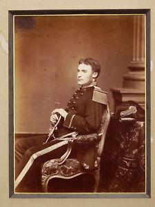 Ancienne-photographie-Portrait-Officier-Armee-Mlitaire-marine-militaria