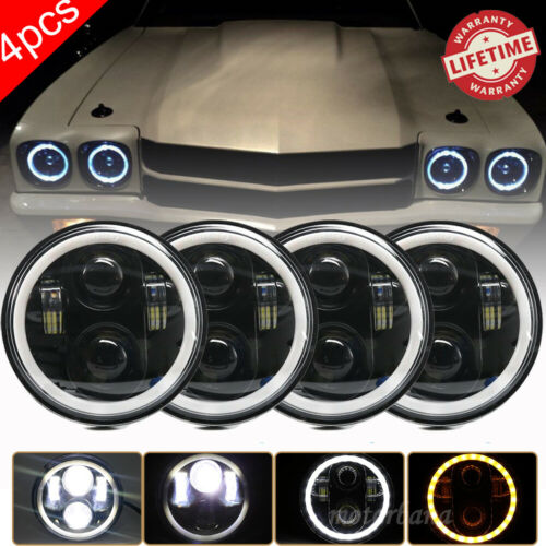 """4PCS 5 3//4/"""" 5.75 LED Headlights Halo DRL for Ford Country Sedan Squire 1962-1974"""