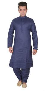 4c7cee2ce3 Image is loading Men-plain-smart-COTTON-kurta-Shalwar-Kameez-suit-