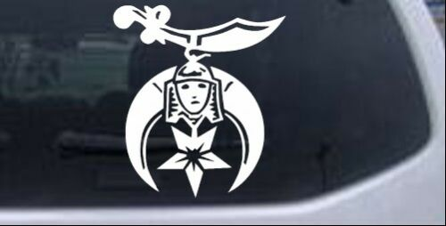 Shriner Car or Truck Window Laptop Decal Sticker White 4X3.6