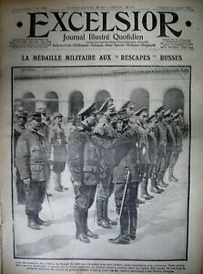 WW1-N-1711-Gal-COUSIN-MEDAILLE-RESCAPeS-RUSSES-ARGONNE-WOEVRE-EXCELSIOR-1915