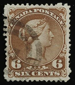 Large Queen 6cts plate 2, 27ii SOFT WHITE PAPER 2-ring'7' cancel,see description