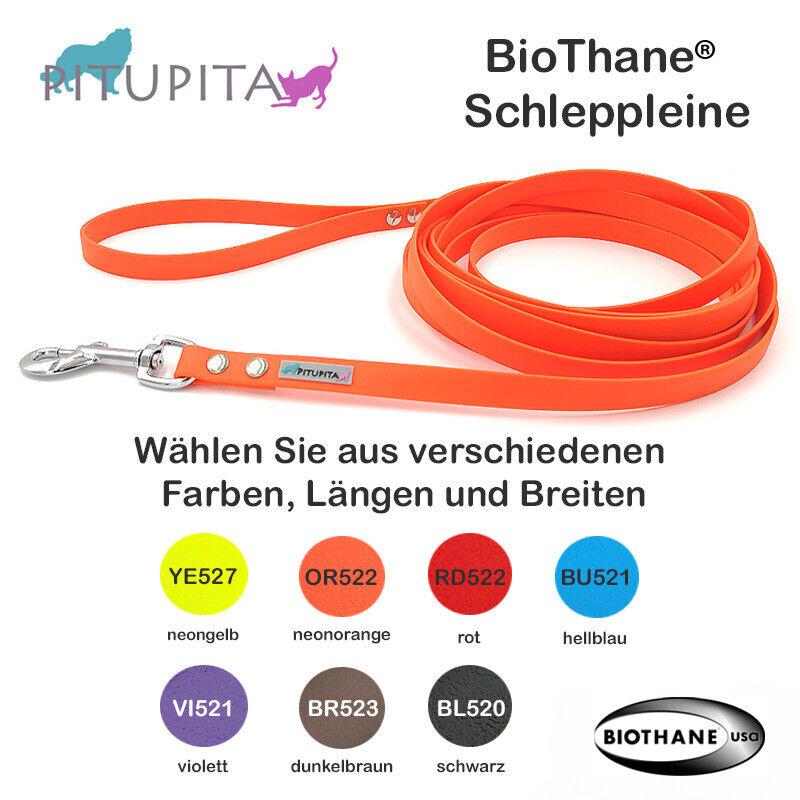 Biothane® Schleppleine Trainingsleine Fährtenleine viele Farben Längen & Breiten  | Modisch