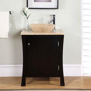 ... -Bathroom-Sink-Vanity-Travertine-Countertop-Stone-Vessel-Cabinet-711T