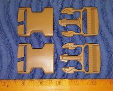 "(Set-2) US Military ITW NEXUS 1.5"" Coyote Tan Buckles, Backpacks, ILBE Main Pack"