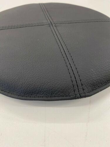 Sitzkissen rund 35 cm DM rutschfest echt Leder schwarz antirutsch  Barhocker Pad