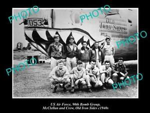 OLD-POSTCARD-SIZE-PHOTO-OF-US-AIR-FORCE-90th-BOMB-GROUP-OLD-IRON-SIDES-c1940