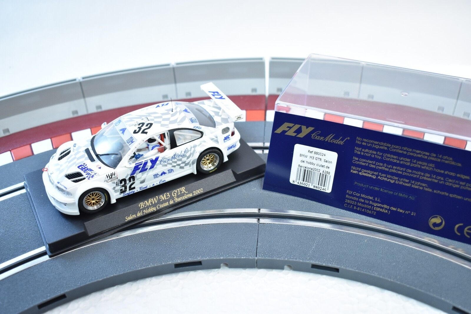 880024 FLY CAR MODEL 1 32 SLOT CAR BMW M3 GTR SAION DEL HOBBY CIUTAT 2002
