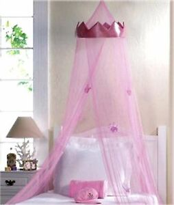 Image is loading PINK-034-CROWN-034-PRINCESS-ROYALTY-BED-CANOPY- PINK \