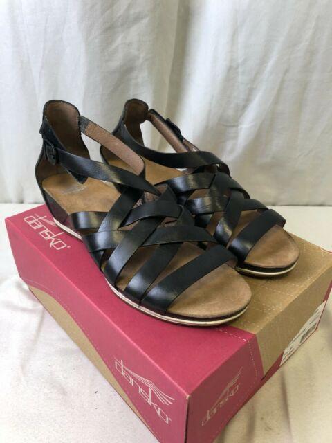 Dansko Women's Vivian Sandals Vintage Pull Up Graphite Size 40 (US-W 10.5-11)
