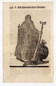Patriarch-Grieche-Ethnologie-Holzschnitt-1753