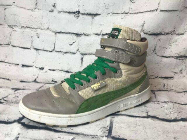cdefcb8d8d PUMA Sky II Hi Top Color Blocked Leather Grey Athletic Shoes Men's (Size:  13)