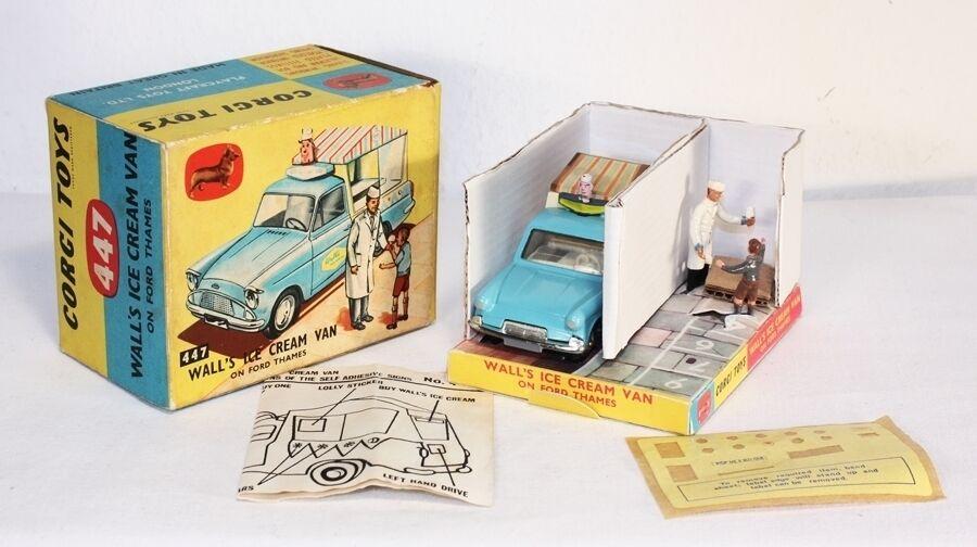 Corgi Toys 447, Wall's Ice Cream Van, Mint in Box  ab1252