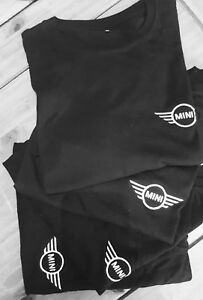 NEW-MINI-COOPER-BMW-T-SHIRT-ORGANIC-COTTON-BLACK-WORKWEAR