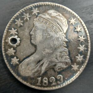 1823 Patched 3 Capped Bust Half Dollar O-101a VF Very/Extra Fine or XF Details