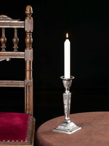 Kerzenständer 22cm Kerzenleuchter vernickelt Leuchter Candlestick antik Stil
