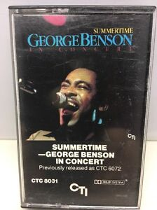 George-Benson-Summertime-In-Concert-CASSETTE-Tape-1981-CTC-8031