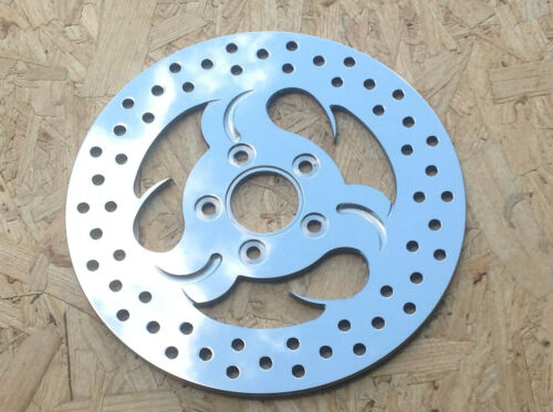 """11.5/"""" REAR BRAKE ROTOR Roll Out PAUL YAFFE POLISHED STAINLESS STEEL Harley 84-99"""