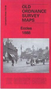 OLD ORDNANCE SURVEY MAP ECCLES 1888 MANCHESTER WEASTE LANE LITTLE BOLTON SALFORD