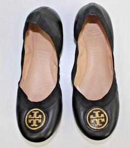 de982d9bf Tory Burch CAROLINE 2 Leopard Lurex Logo Ballet Ballerina Flats ...