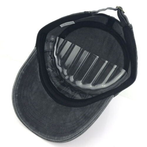 Men/'s Army Cap Solid Color Military Cap Flat Trendy Male Sun Hat Casual Hat