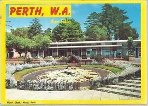 FOLD OUT VIEWS OF PERTH WESTERN AUSTRALIA POSTCARD