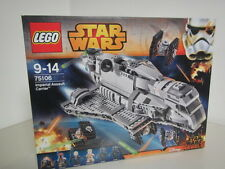 LEGO STAR WARS 75106 IMPERIAL ASSAULT CARRIER nuovo - new NIB with 6 minifigures