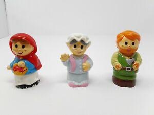 3 Vintage Mega Bloks-block Buddies-red Riding Hood, Bûcheron & Grand-mère DéLicieux Dans Le GoûT