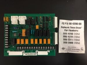 Details about Onan Generator Circuit Board Flight Systems 300-4296  (56-4296-00)