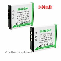 2x Kastar Battery For Kodak Klic-7004 Easyshare M2008 V1253 Zi8 Zx3 Zi12 V1273
