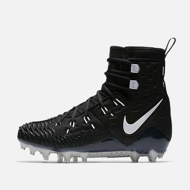 Nike Force Savage Elite TD Football Cleat 11 NFL Lineman Black White 857063-011