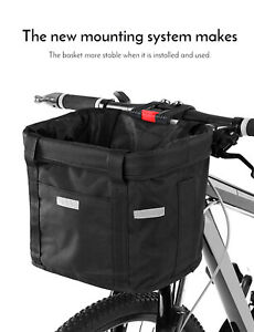 Bicycle-Front-Basket-Impermeable-Velo-Guidon-Panier-Pet-Carrier-Frame-Bag