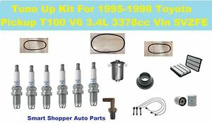 V6 FILTERS 95-98 T100 TUNE UP KITS: SPARK PLUG WIRE SET BELTS PCV VALVE /& ENG