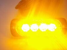 4LED Ultrathin Car Flash Emergency Beacon Bar Hazard Police Warning Light Lamp