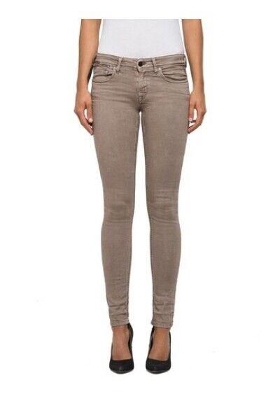 REPLAY Luz Coin Zip Skinny Jeans W26-W32 L32 Damen Stretch Hose Low Rise Slim