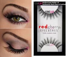 1 Pair AUTHENTIC RED CHERRY #16 Stella Human Hair False Eyelashes Strip Lashes