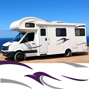 Motorhome Stripes Vinyl Stickers Camper Van Horsebox Caravan RV - Graphics for caravanscaravan stickers ebay