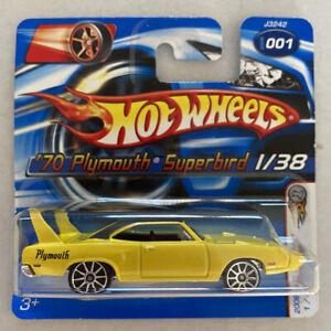 2006 HOTWHEELS 1970 70 1/38 Plymouth Superbird Giallo MOLTO RARO! Nuovo di zecca! MOC!