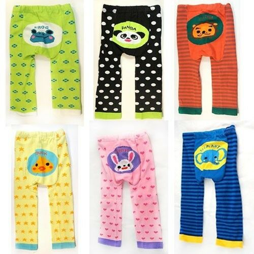 Unisex Toddler Boy//Girl Colorful Animal Face Striped Spots Hearts Pants Leggings