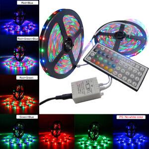 2X5M-3528-SMD-RGB-600-LED-Lighting-Strips-12V-44-Key-Remote-Controller-for-Room