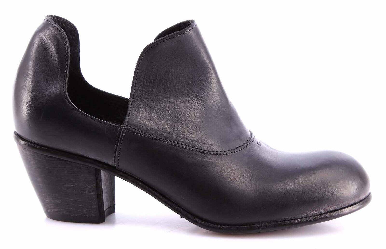 Damen Pumps Schuhe MOMA 44503-1A Albino Leder Schwarz Vintage Made  Neue