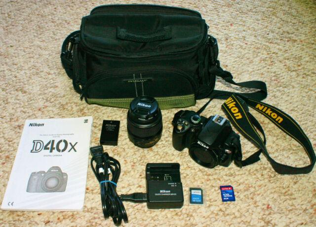 MINT COND! Nikon D40x 10.2 MP DSLR Camera w/ AF-S DX 18-55mm Aspherical Lens ++