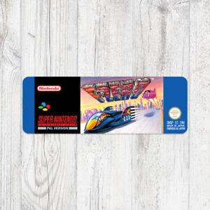 Étiquette SNES / Sticker : F-Zero