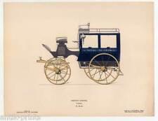 Kutsche-Wagen-Pferdewagen - Lithographie um 1860 Pferdekutsche-Omnibus