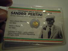 PICCOLA MONETINA CENTENARIO DALLA NASCITA DI SANDRO PERTINI 1896 - 1996 C5-791